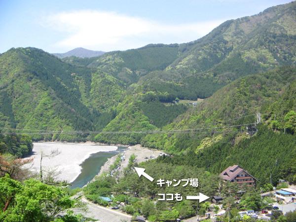 谷瀬の吊橋キャンプ場