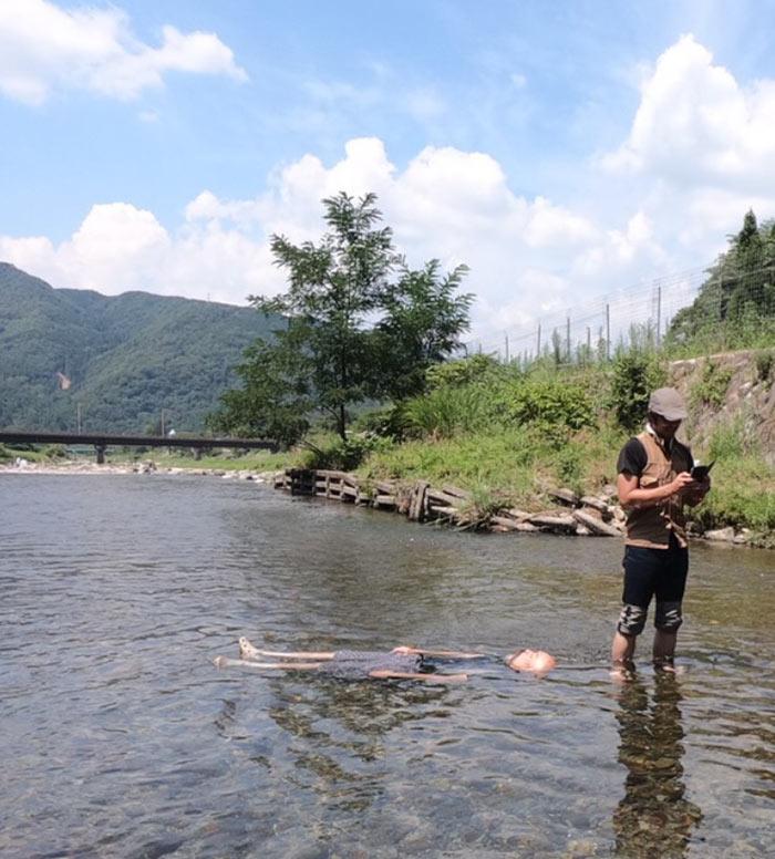 川泳ぎツーリング